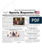 October 30-, 2019 Sports Reporter