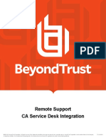 BeyondTrust CA SDM integration