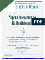 Libro Examen  Radioaficionados (Utíel)