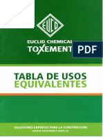 Equivalentes a Sika, Toxement 2014