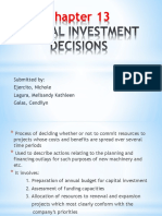Capital Investments Decisions