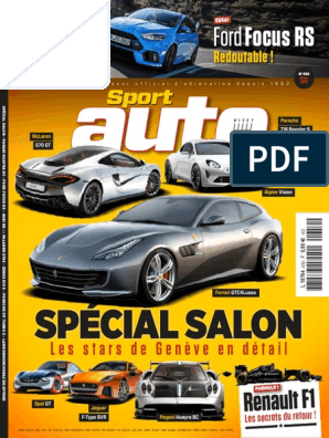 Sport Auto - Mars 2016 | Audi | Renault