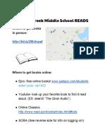 glacier creek middle school reads  1