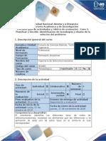 Guía actividades y Rúbrica de evaluación - Fase 3. Planificar y Decidir - Identificación de tecnologías y diseño de la solución del problema.pdf