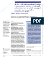 What is the Epidemiology of Medication Errors, Error-related Adverse Events and Risk Factors for Errors in Adults Managed in Community Care Contexts a Systematic Review of the International Literatu
