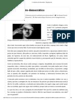 O Judiciário Pós-Democrático - Pio Giovani Dresch