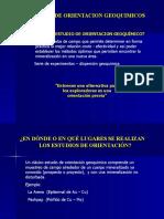 ESTUDIOS DE ORIENTACIÓN GEO QUÍMICOS