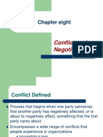 lecture note of chapter eight conflict and Negotiation.PPT