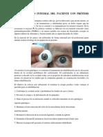 Rehabilitación Integral Del Paciente Con Prótesis Ocular