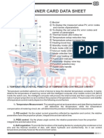 Ficha Tecnica Controladores de Temperatura Modular Hot Runner Card Data Sheet