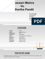 Rajeswari Mishra-vs-Sidharth Pandit-Case.pptx