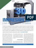 Impresion 3d y Sus Dirupciones en La Cadena de Suministro