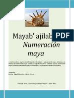 Mayab' Ajilab'Äl Numeración Maya Miguelcabrera