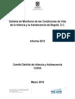 08042016 Informe de Las Condiciones de Vida de Los NNA de Bogota D.C. 2015