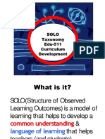 Solo Taxonomy Converted