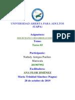 Ser Humano y Desarrollo Sostenible Tarea 3 Nathaly Antigua Paulino
