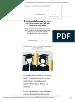 A Desigualdade Entre Homens e Mulheres No Mercado de Trabalho e Na Vida - CUT - Central Única Dos Trabalhadores