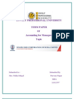 Term Paper Accounti