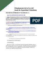 DS N° 012-2003-IN [Reglamento del SINASEC]
