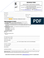 Wsa Booking Form - Direct New PDF