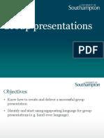 Presentation Group Presentations