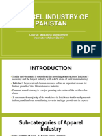 Apparel Industry of Pakistan Project