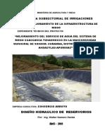Diseño Del Reservorio Proyecto Kishuara