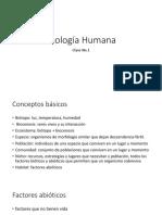 Clase 1 - Ecologia Humana