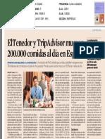 ElTenedor y TripAdvisor mueven 200.000 comidas al día en España
