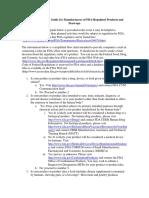 FDA Basics for Industry_navigation Guide