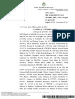 Resolución de la Sala I de la Cámara Nacional en lo Criminal y Correccional Federal