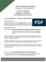 Engenheiro Civil - Phelipe Oliveira de Almeida - c.V