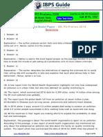 Memory Based Model Paper Solutions SBI PO Pre 2018