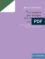 Jean Cocteau, La mentira