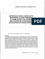 Intercultural Conflicts Between Close Friends - A Case Study of Power Relations in Continuing Education in Saudi Arabia