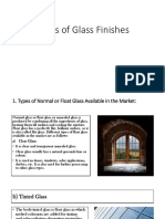 Types of Glass Finishes