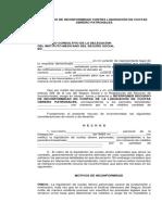 Formato de Recurso de Inconformidad Contra Liquidación de Cuotas Obrero Patronales