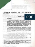 Contexto General de Los Sistemas Agrarios