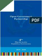 Cuarto Plan de Acción de Gobierno Abierto 2018-2020, República Dominicana.