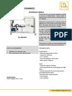 280318 Dl Dkl014 Hydraulic Bench Eng