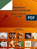 Inglês PPT - Integral - Substantivos cont - incont II