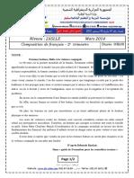 A1_examen Et Corrige Francais 2014 2ASLLE T2