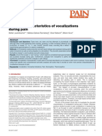 Phonetic Characteristics of Vocalizations  Pain Reports