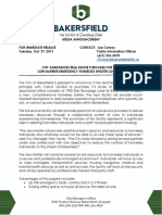 City of Bakersfield Homeless Shelter Site Agreement