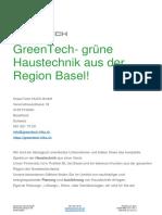 GreenTech HLKS Info