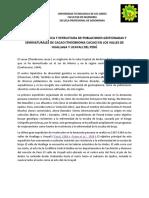 Diversidad Genética y Estructura de Poblaciones Gestionadas y Seminaturales de Cacao