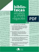 Bibliotecas. Anales de Investig - Biblioteca Nacional de Cuba Jos