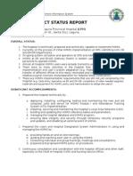 Homis Project Status Report (Lph)