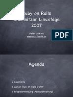 German Tutorial for Ruby on Rails