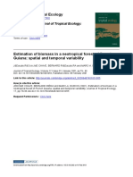 Estimation of Biomass in a neotropical forest of french Guiana